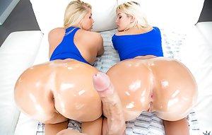 Blonde Butts Porn